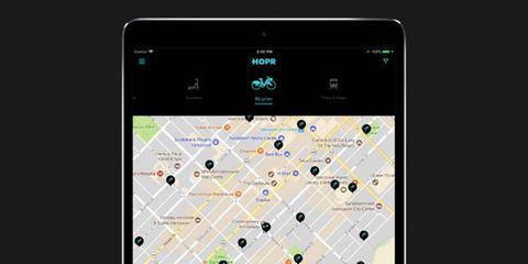 HOPR CycleHop Trip Planning App