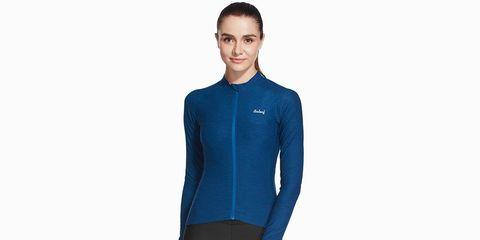The Baleaf Women's Space Dye Long Sleeve Cycling Jersey.