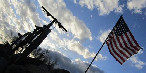 Bike and American Flag