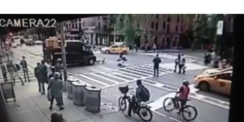 Driver Rams Into Suspected Bike Thief and Bystander