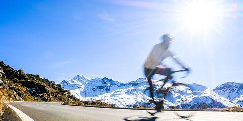 Biking in Sunlight - Winter