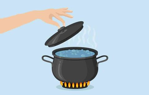 illustration of boiling pot of water