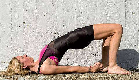 Yoga for cyclists Bridge Pose