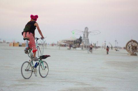 Bikes at Burning Man