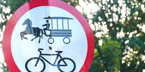 horse-drawn carriage bicycle sign cuba