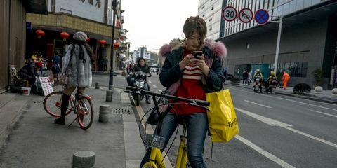Chinese dockless bike share