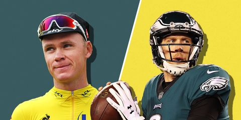 Nick Foles and Chris Froome