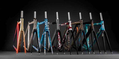 chrome custom painted cinelli bike frames
