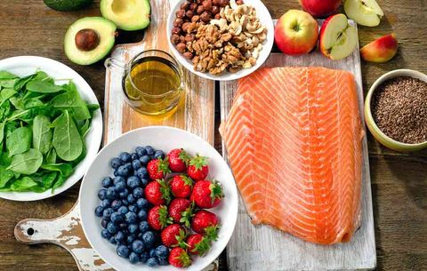 salmon and fatty foods