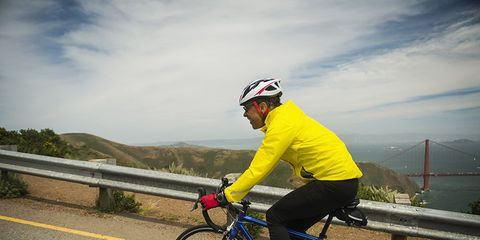 Cyclist cardio workout