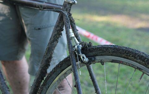 A dirty bike.