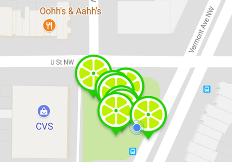 Dockless Bike Share Smartphones