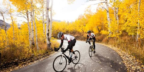 cycling in the fall