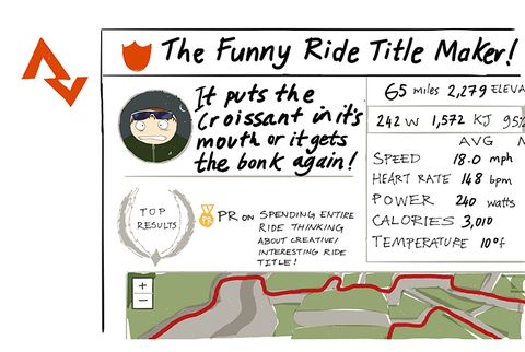 Funny Ride Title Maker Strava Cyclist