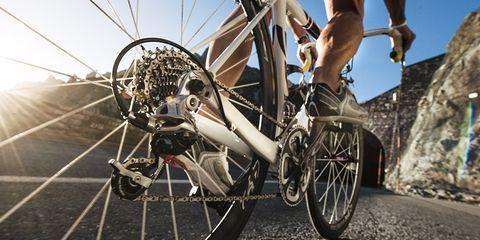 cyclist drivetrain gearing cassette chainrings