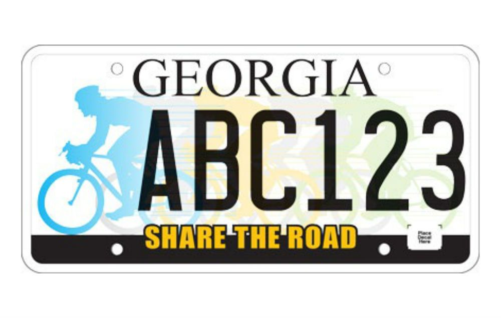 SHARE THE ROAD BICYCLE License Plate Frame
