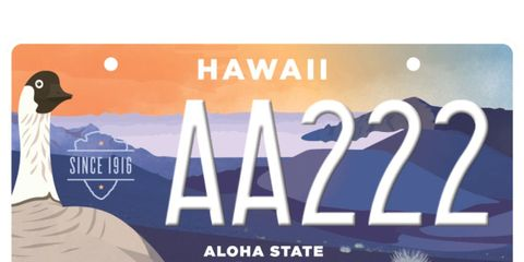 hawaii park license plate