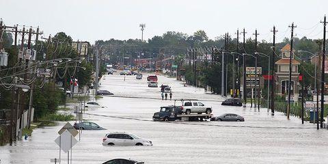 Houston during Hurricane Harvey
