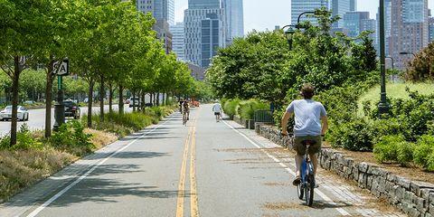 Hudson River Greenway bike path