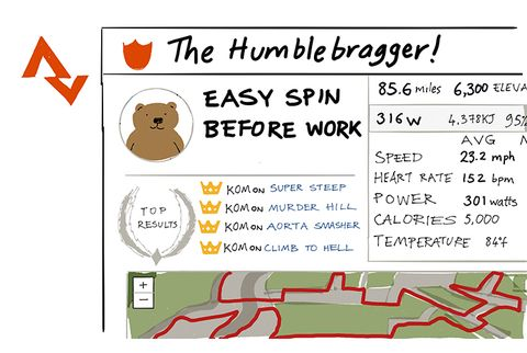 The Humble Bragger Strava Cyclist