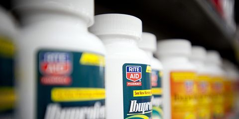 Ibuprofen during a workout can harm muscle growth