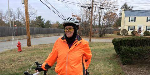 Lisa Mae DeMasi with her bike