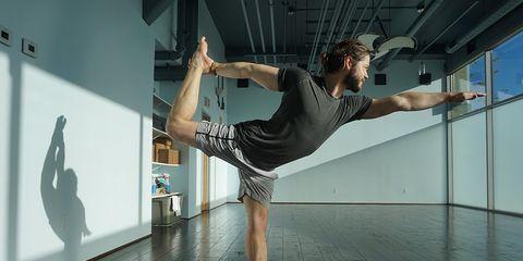 yoga instructor Colin Brightfield dance pose