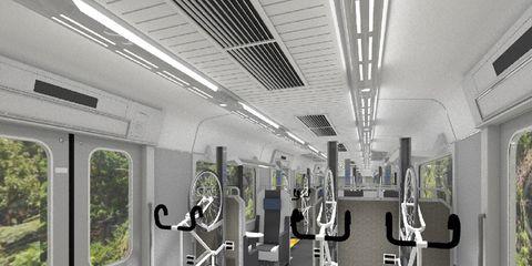 Japanese Bike Commuter Train Rendering
