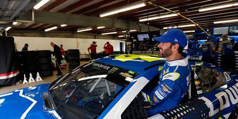 NASCAR Star Jimmie Johnson Slow Roll Crew Detroit.