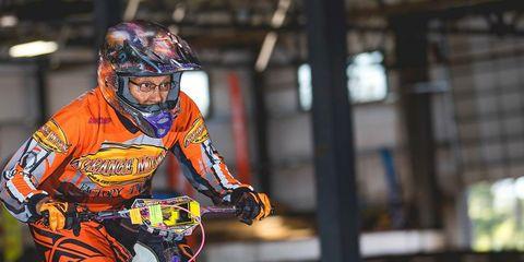 Kittie Weston Knauer racing BMX
