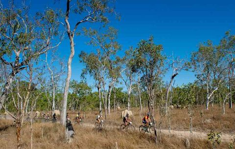 racers in the croc trophy stage race outback australia
