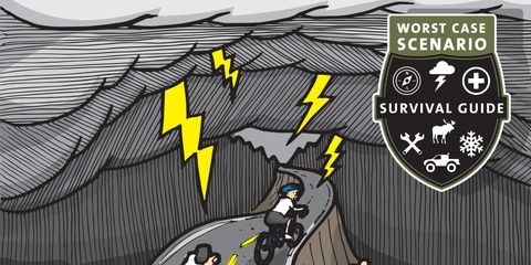 What to do when you're caught in a lightning storm on a bike