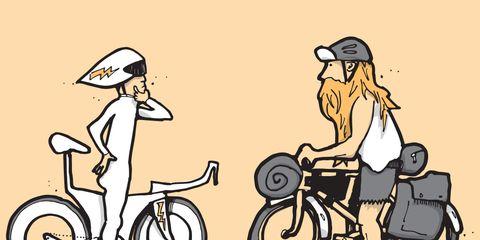 Think like an adventure racer when biking in a lightning storm