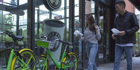 LimeBike dockless bike share in Seattle