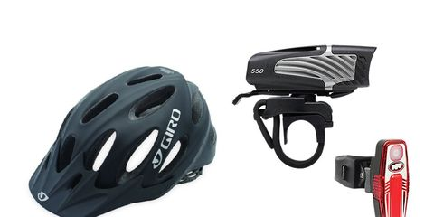 Giro helmet and niterider headlight combo