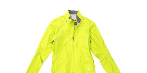 Clothing, Jacket, Outerwear, Yellow, Sleeve, Windbreaker, Raincoat, Orange, High-visibility clothing, Coat,
