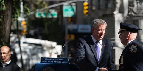 """""""E-bikes are illegal to operate in New York City and the NYPD is stepping up enforcement,"""" de Blasio said"""