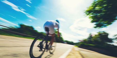 cyclist training with power