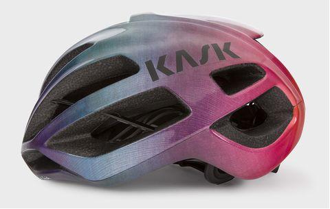 Helmet, Personal protective equipment, Motorcycle helmet, Clothing, Bicycle helmet, Pink, Sports gear, Violet, Magenta, Headgear,