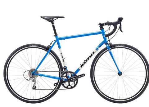 Bicycle frame, Bicycle tire, Tire, Bicycle wheel, Wheel, Bicycle fork, Bicycle wheel rim, Bicycles--Equipment and supplies, Blue, Bicycle part,