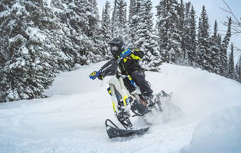 Dirt Bike Snowmobile >> What Are Snow Bikes And How Are They So Awesome Bicycling