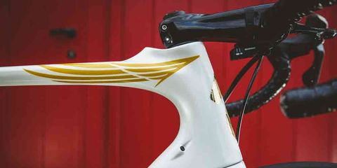 the headset of tom boonen's retirement bike from specialized