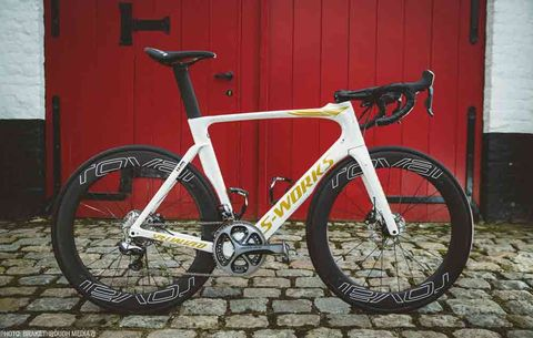 full photo of tom boonen's retirement venge vias from specialized