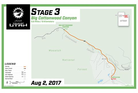 Stage 3: Big Cottonwood Canyon, 5.6 miles