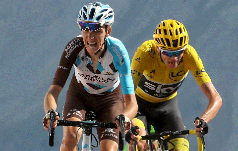 can romain bardet beat chris froome
