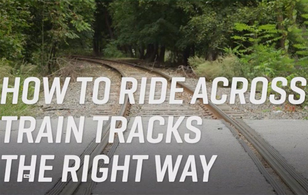 How to Safely Ride Across Railroad Tracks | Bicycling