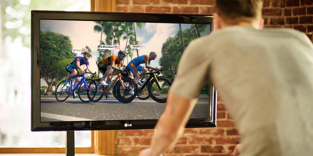 zwift racing indoor cycling
