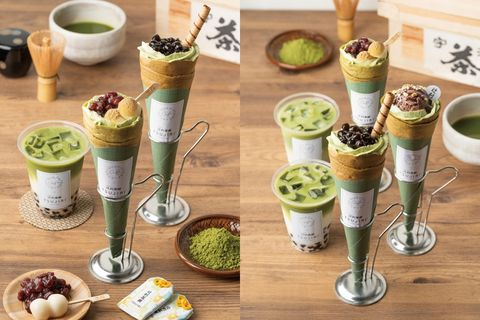 gelato pique café X TSUJIRI辻利茶舗情人節聯名推出 「抹茶系列可麗餅」