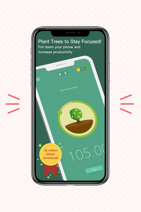 forest app displayed on iphone