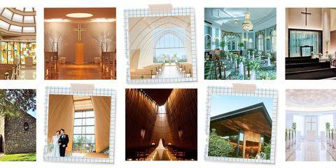 都内と関西のラグジュアリーホテルのチャペル組み合わせ画像